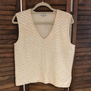 St. John Cream Sparkle Top